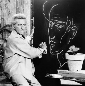 Jean Cocteau by Lucien Clerge, 1959