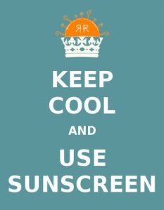 wear sunscreen