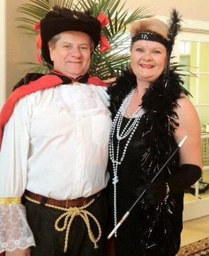 At Halloween we couldn't agree on one theme, so one pirate and one flapper.