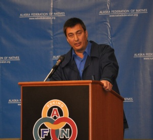 John Quinak Baker, winner of the 2011 Iditarod race, is a much used keynote speaker (Photo: HNS)