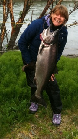 Ellen and her King Salmon. Photo: Heidi Nesttun-Sunde
