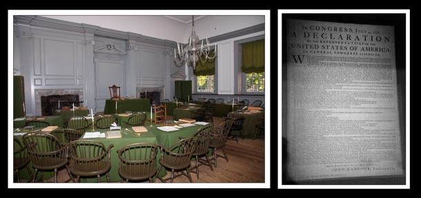 The original declaration of independence and the room where it was signed, in Philadelphia. Photo: www.fuchs-photography.com / Peter Fuchs