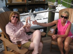 Susan and Joan Nell enjoying Norwegian water in Florida. Photo: private
