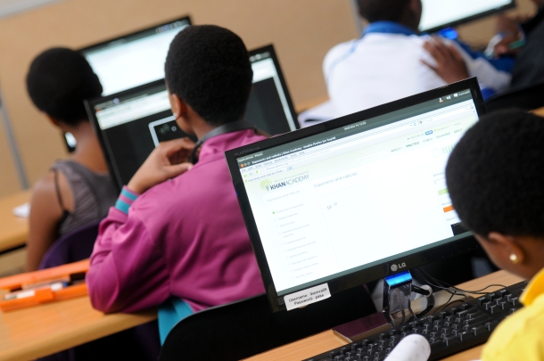 Khan Academy in the classroom in South Africa. Courtesy of Khan Academy