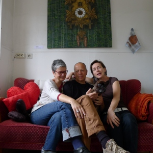 Diane Jodes, Robert Hall with Beaubête, Jeanette Bremin. Photo: private