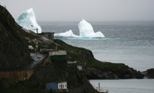 Icebergs drifting by Outer Battery in St. John's.