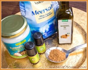 Salt scrub ingredients