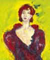 Ger Maas, Béatrice en Robe de Soir Rouge. Courtesy of www.mediart.lu
