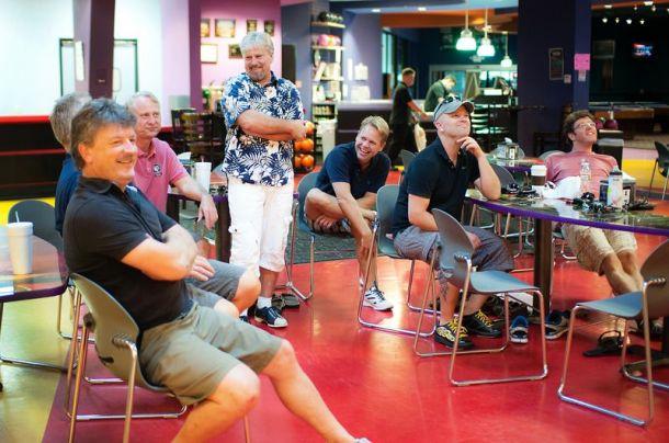 Bowling Tuesday for the expat guys. Photo: Silje Glefjell