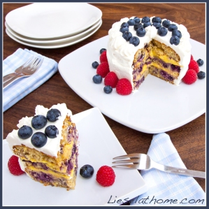 Bluberry lemon gateau
