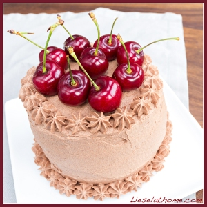 Fancy cherry cake