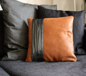 Leather pillow cover VankDesign