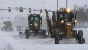 Snow clearing in Anchorage