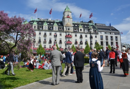 Oslo's Grand Hotel dressed for the occasion