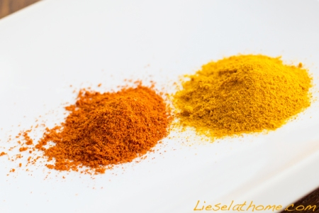 Chili powder and turmeric