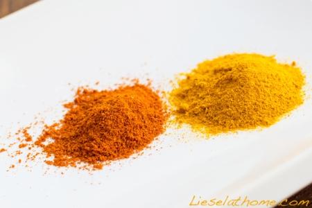 Chili powder and turmeric