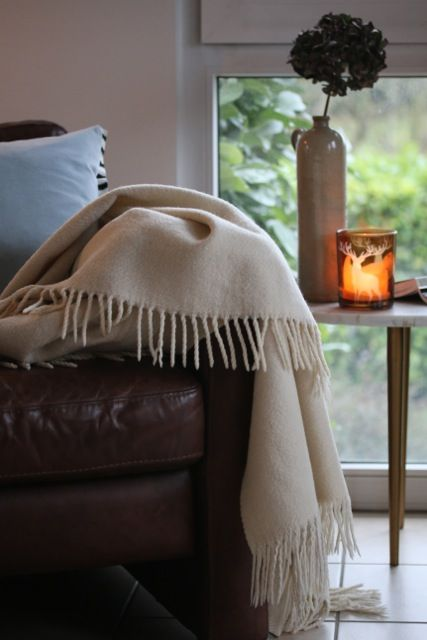 White wool blanket