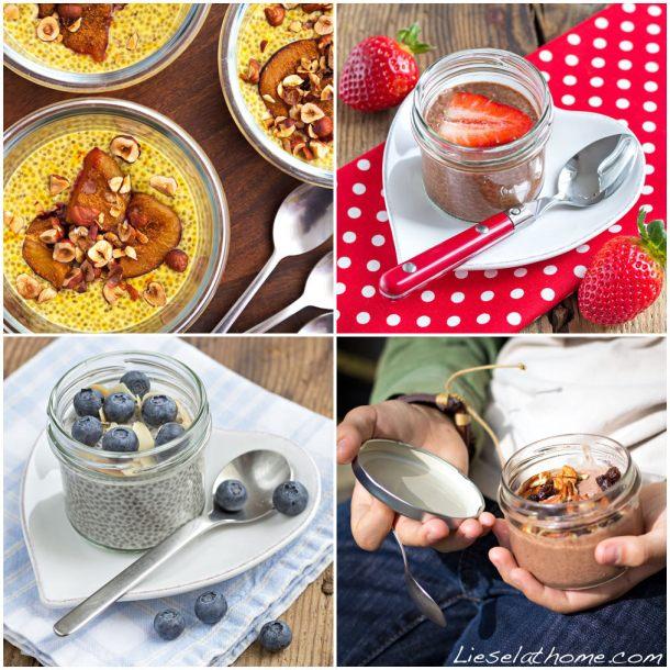 Trendy, healthy chia puddings. Photo: Lisa Fuchs