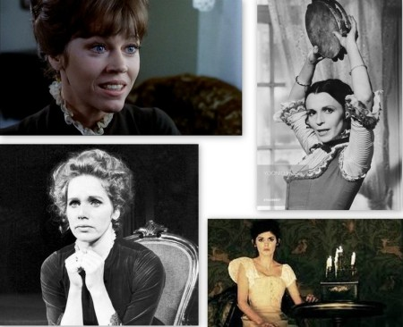 Strong women as Nora Helmer, from top left: Jane Fonda, Claire Bloom, Liv Ullmann, Audrey Tautou
