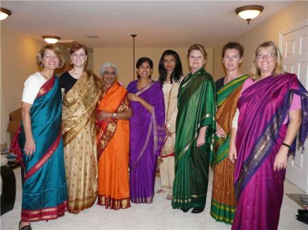 I met a fantastic Indian woman, Amba, in Houston. We all dressed up in saries and went out for dinner. Good memories.